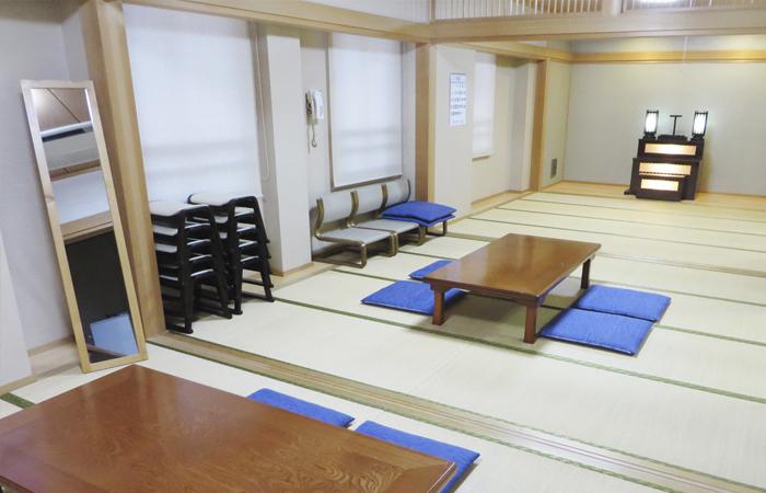 ドリーマー加茂川葬祭館控室1|愛媛県西条市の葬儀式場|株式会社ドリーマー