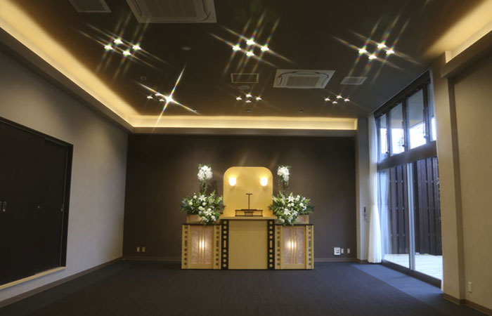 家族葬ホール夢想庵法要室1|愛媛県松山市の葬儀式場|株式会社ドリーマー